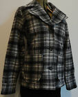 Women's Woolrich Wool Jacket NWT Peacoat Black White Heritage Plaid size L Large