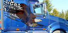 Checkered Flag Tribal Eagle Vinyl Decals for semi trucks and Rv 4ft and up
