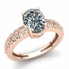 Genuine 0.75ct Oval Cut Diamond Ladies Bridal Solitaire Engagement Ring 10K Gold