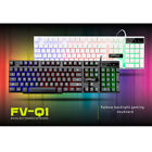 FV-Q1 Wired 104 Keys USB Seven Colors Backlight Mechanical Keyboard White/Black