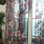 Floral Tulle Voile Door Window Curtain Drape Panel Sheer Scarf Valances ILC