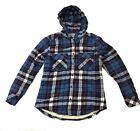 Boston Traders Women's Sherpa Lined Flannel Shirt Blue/Pink