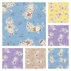 Little Cuties 100% Cotton Fabric Girls Dressmaking Craft Patchwork  BY THE METRE