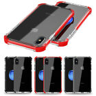 """For iPhone X 5.8"""" Hybrid Shockproof Impact Soft TPU+TPE Bumper Back Case Cover"""