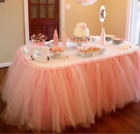 Tulle Tutu Table Skirt For Wedding Party Birthday Baby Shower Home Desk Decor
