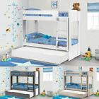 Ellie Wood Bunk Bed with Guest Trundle 3ft Single 3 Colour Options 3 Mattresses