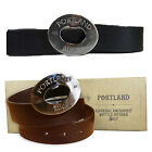 Portland Vintage Rugby Durable Genuine Leather Bottle Opener Metal Buckle Belt