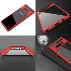 For Note 8 S8+ 2IN1 Hybrid Shockproof Soft TPU CASE Crystal Clear PC Back Cover