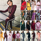 2Pcs Women Hoodies Crop Tops Pants Tracksuit Set Sweatshirt Sweat Suit Sportwear