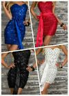 Mini dress Bodycon party evening Shining 4 Color patchwork Bandage Cocktail M