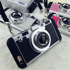 New 3D Vintage Camera Shockproof Case Cover For Apple iPhone 5/5S 6/6S + 2in1