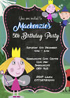 Personalised Ben and Holly's Little Kingdom Birthday Party Invites + envs BH4