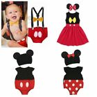 Newborn Baby Girl Mickey Mouse Dress Boy Minnie Outfit Romper Playsuit Bodysuits