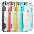 Hybrid Clear Crystal Glossy Silicone Rugged Hard Case Cover for iPhone 8 7 Plus