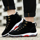 Men's Winter Fur Warm Outdoor Non-slip Sneakers Suede High Top Snow Ankle Boots