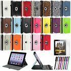 For Apple New iPad 4 4G Gen 3 3rd 2 360 Rotating Magnetic PU Leather Case Cover
