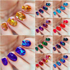13 X BROKEN GLASS Holographic Nail Art Foil Decoration Wrap Transfer Sticker