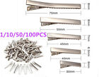 Внешний вид - 1 10 50 100PCS Small Medium Lot Silver Crocodile Alligator Bow Blank Hair Clips
