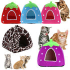 Lovely Strawberry Pet Cat Dog House Bed Warm Strawberry Cave Nest Kennel S-XXL