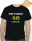 40th BIRTHDAY T-shirt (This is what!!) Funny Printed T-Shirt Choose size / colou