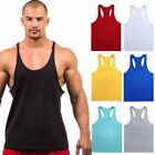 Mens Gym Sports Tank Top Muscle Vest Athletic Fitness Sleeveless Cotton T-Shirts