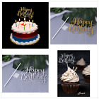Personalized Birthday Cake Topper DIY Shining Letters Flags Banner Party Decor