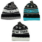 ITZU Co. New York NY Aztec Knitted Roll - Turn Up Pull On Beanie Ski Cap Hat