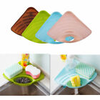 Kitchen Triangle Sink Sponge Scratcher Holder Cleaning Brush Storage Organizer