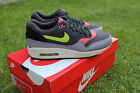 Nike Air Max 1 Essential Trainers Purple Fluorescent Green 537383 500 Brand new