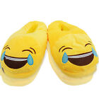 NEW WOMENS LADIES EMOJI NOVELTY TEARS CRYING SLIP ON INDOOR SLIPPERS SHOES SIZE