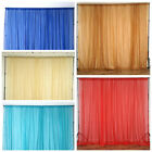 10ft x 10ft Sheer Voile Professional BACKDROP Drapes Panels Home Wedding Party