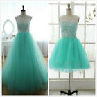 Stock Long /Short Tulle Evening Prom Bridesmaid Dress Formal Ball Gown Size 6-16