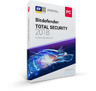 New Bitdefender Total Security 2018 | Windows 1 & 3 Years | Limited Stock
