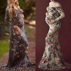 Pregnant Women Long Maxi Gown Photography Photo Shoot Fancy Maternity Dress New