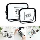 Portable Cosmetic Makeup Toiletry Clear TPU Travel Wash Storage Bag Holder Pouch