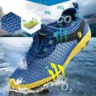 FASHION Fishing Wet Wading Boat Water Shoes Anti-Slip Water Remove Size 8-9 Blue