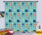 3D Dolphin 80 Blockout Photo Curtain Printing Curtains Drapes Fabric Window US