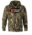 Browning Wicked Wing Camo Sweater Performance Hunting Hoodie Realtree MAX Green