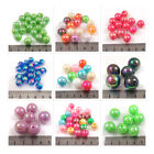 ROUND AB OPAQUE ACRYLIC BEADS *9 SIZES* *43 COLOURS* BEADING JEWELLERY MAKING