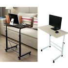 Laptop Table Stand Height Adjustable Computer Desk w/Wheel Sofa Bed Tray 2 Color