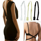 Low Back Adjustable Bra Strap Hook Converter Extender Backless  NUDE WHITE BLACK