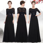Ever Pretty Black Lace Long Maxi Party Formal Prom Homecoming Ball Gown 08847