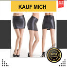 Damen Leder Look Mini Rock schwarz sexy Business Bleistift kurz XS S M L FERANI