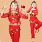 Children Belly Dance Costume Kids Indian Dance Girls Bollywood Outfits Perform