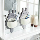Home Bathroom Cute Totoro Toothbrush Wall Mount Holder Sucker Suction Organizer