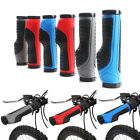 1 Pair Antislip MTB Bicycle Soft Handlebar Grips Rubber Cover 132mm Lock-On Ends