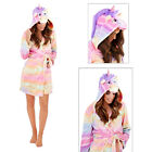 Loungeable Womens 3D Rainbow Unicorn Dressing Gown New Ladies Luxury Animal Robe