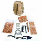 Survival Emergency Fire Starting Kit Tactical Bag Fatwood Hiking FedEx 2 Day Air