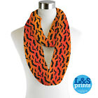 HALLOWEEN BATS ALL OVER INFINITY SCARF JERSEY OR CHIFFON FASHION LOOP SCARVES