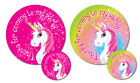 'Thanks for coming to my party' stickers - Unicorn, choice of 2 sizes & colours